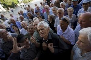 Greek pensioners (Emilio Morenatti:AP) July 6 2015