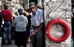 Greek senior standing ( Aris Messinis:AFP:Getty Images) July 7 2015