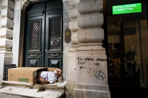 Homeless in Athens ( Andreas Solaro:AFP:Getty Images) July 5 2015