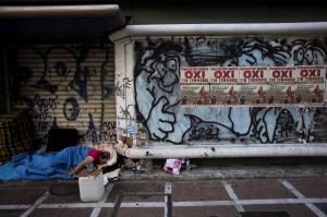 Homeless in Greece (Emilio Morenatti:AP) July 13 2015