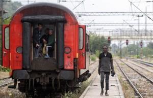 Immigrants at Macedonian-Greek border (- Robert Atanasovski:AFP:Getty Images) July 1 2015