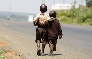 Kenya little boys walking (Thomas Mukoya:Reuters) July 29 2015