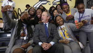 Bush in New Orleans (Gerald Herbert:AP)