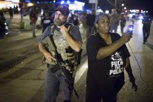Ferguson Oathkeepers (Scott Olson:Getty Images) August 15 2015