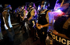 Ferguson protest (Rick Wilking:Reuters) August 10 2015