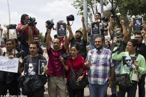 Guadalajara Ruben Espinosa protest (AFP:Getty Images) August 4 2015