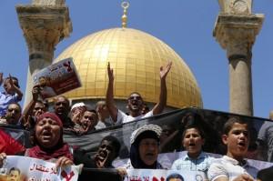 Mohammed Allan protest ((REUTERS:Ammar Awad)  August 16 2015