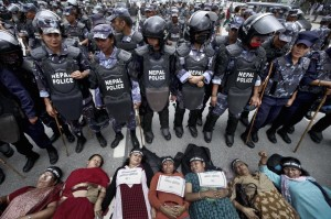 Nepalese women protesting http-::www.theguardian.com:world:2015:aug:06:israeli-bomb-from-gaza-war-explodes-killing-four-from-palestinian-family August 8 2015