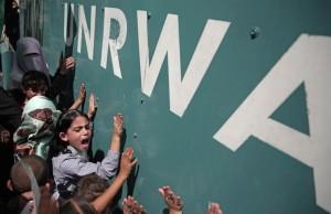 UNRWA protest in Gaza (AP Photo: Khalil Hamra) August 17 2015