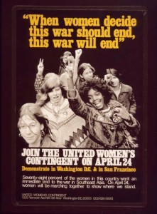 Women's antiwar contingent poster (Library of Congress)