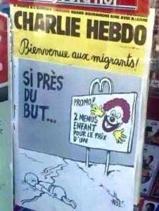 Charlie Hebdo on baby Aylan Kurdi