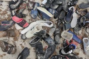 Discarded shoes in Libya (Mohamed Ben Khalifa:AP) Sept 9 2015