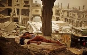 Gaza boy sleeping (Suhaib Salem:Reuters) Sept 14 2015