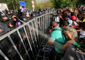 Hungarian border (Srdjan Stevanovic:Getty Images) Sept 17 2015