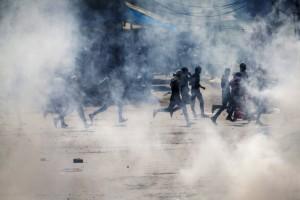 Kashmir beef protest (Dar Yasin:AP) Sept 20 2015