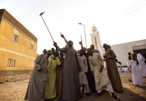 Nubians taking selfie (AP Photo:Belal Darder) Sept 25 2015