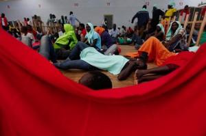 Refugees on Norwegian ship (AP Photo:Gregorio Borgia)  Sept 3 2015