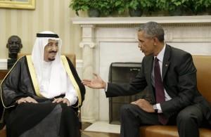 Saudi king and Obama  (REUTERS:Gary Cameron) Sept 5 2015
