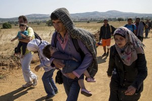 Syrian refugees on road to Hungary (Marko Djurica:Reuters) August 24 2015