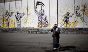 Apartheid wall:graffiti (Thomas Coex:AFP:Getty) Oct 24 2015