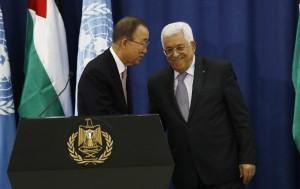 Ban Ki-moon and Abbas (EPA:ALAA BADARNEH) Oct 22 2015