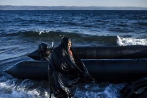 Elderly woman refugee (- Dimitar Dilkoff:AFP:Getty Images) Oct 20 2015