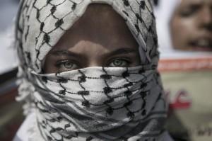 Protester in Rafah, Gaza (Ibrahim Khatib:Demotix:Corbis) Oct 14 2015