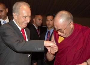 Shimon Peres and Dalai Lama