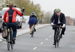 Boris Johnson getting the finger (John Stillwell:PA) Nov 20 2015