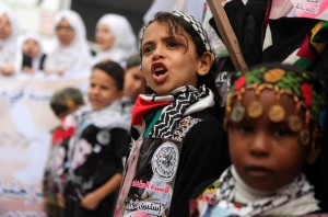 Gaza little girl protesters ( Majdi Fathi:NurPhoto:Corbis) Nov 16 2015