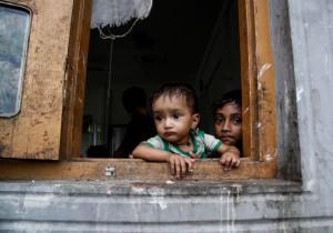 Rohingya children ((Nyunt Win:EPA) Nov 5 2015