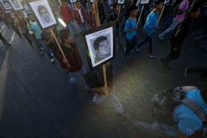 Ayotzinapa protest Mx City ( Marco Ugarte:AP) Dec 27 2015