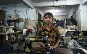 Bangladesh child garment worker (Picture- Claudio Montesano Casillas:REX) Dec 2 2015