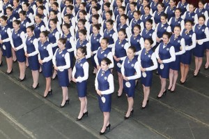 Chinese flight attendants (Xinhua Press:Corbis) Dec 29 2015