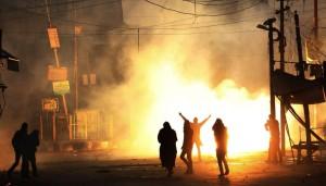 Kashmir protest 12:4:15  (EPA:FAROOQ KHAN) Dec 5 2015