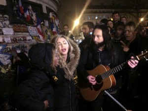 Madonna singing in Paris (Jules Mahe:AFP:Getty Images) Dec 10 2015