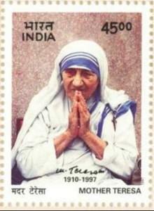 Mother Teresa Indian stamp