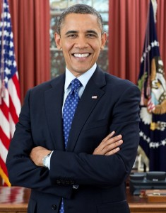 Obama with the big toothy grin