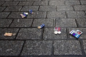 RAF discarded medals (Carl Court:Getty Images) Dec 13 2015