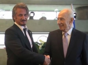 Sean Penn meets Shimon Peres