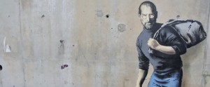 Steve Jobs in Calais (Banksy) Dec 11 2015