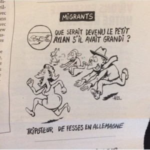 Charlie Hebdo on Aylan Kurdi Jan 13 2016