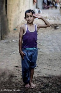 Hassan M Shoaap  Child in Palestinian refugee camp 2015