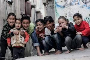 Hassan M Shoaap  Children in Palestinian refugee camp 2015