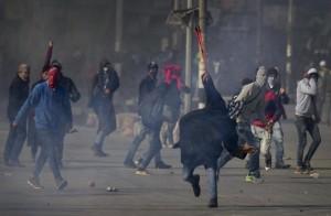 Kashmiri protest over Bhat murder (Dar Yasin:AP) Jan 22 2016