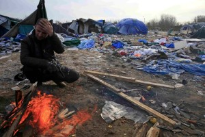 Kurdish refugee at Calais (Reuters:Pascal Rossignol) Jan 19 2016