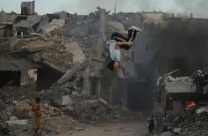 Parkour in Gaza (Mohammed Salem:Reuters) Jan 18 2016