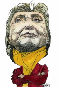 Caricature of H Clinton
