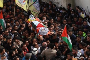Funeral of Majdi Abu Omar (Nidal Eshtayeh:Xinhua) Feb 2 2016