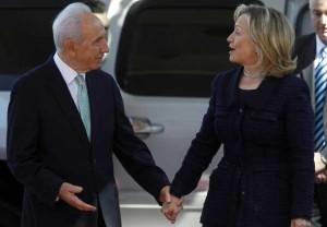 H. Clinton & Shimon Peres 9:15:15 (Xinhua:Reuters) Feb 11 2016